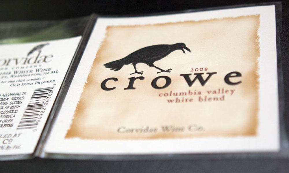 owen roe crowe wine label design