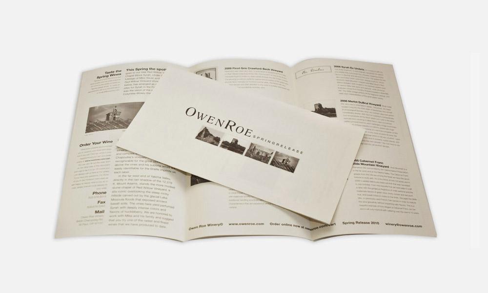 Owen Roe newsletter design