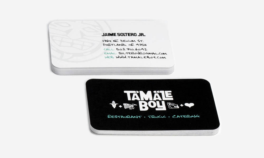 tamale boy business card