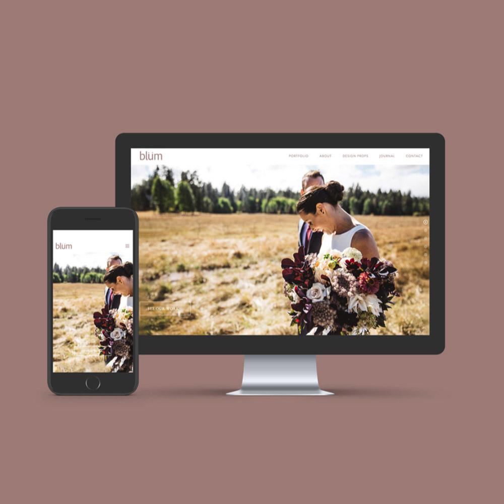 web design for blum floral design