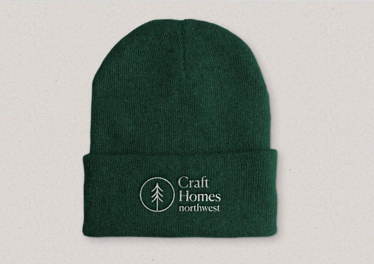 branded beanie design craft homes nw