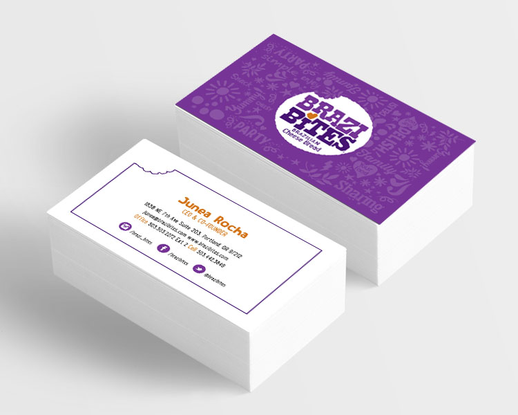 brazi bites business card design