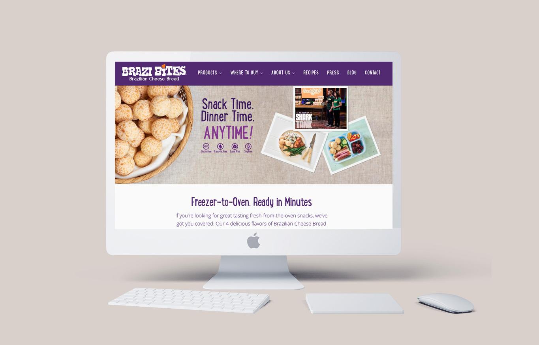 Brazi Bites responsive website design