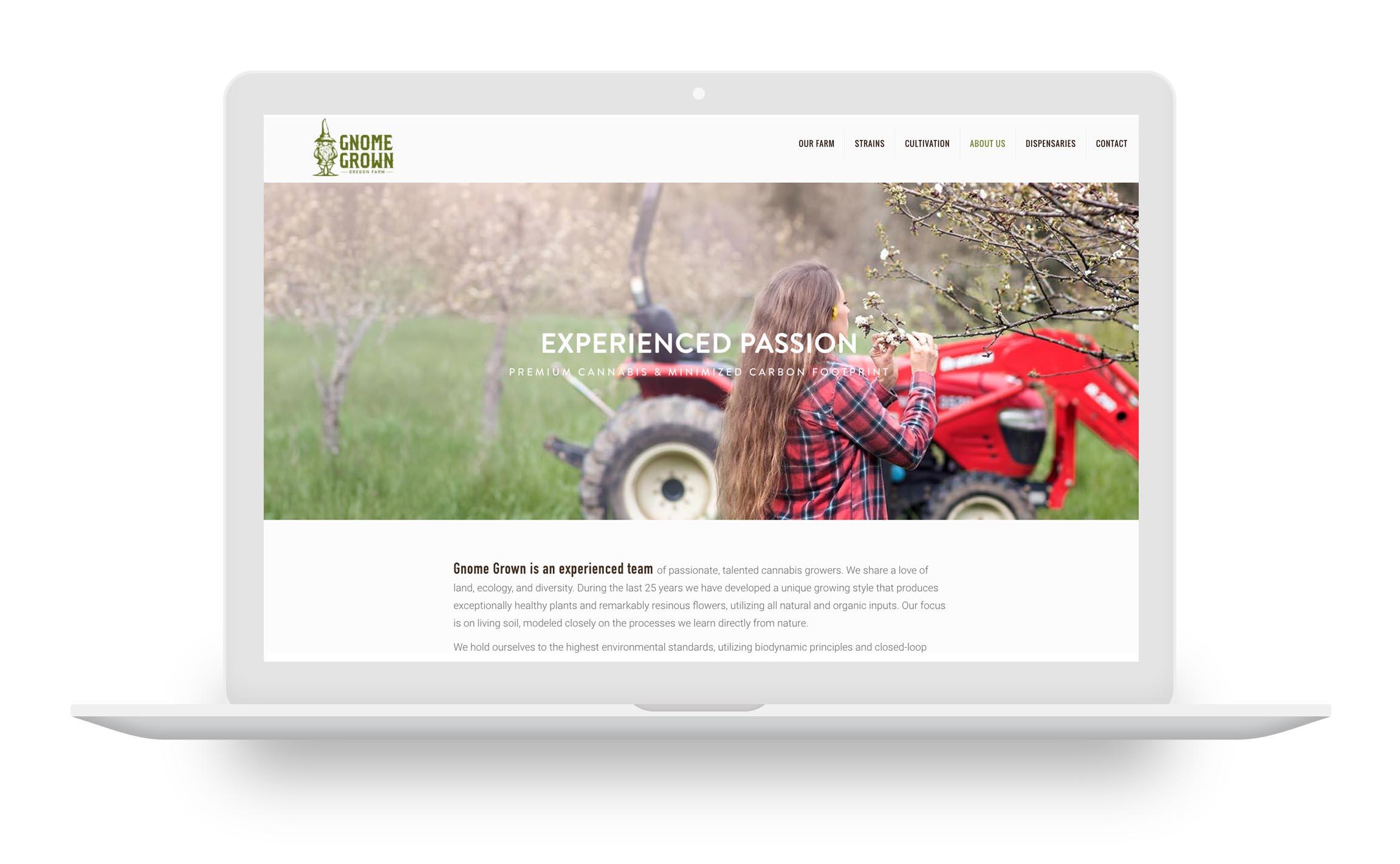 cannabis farm web design