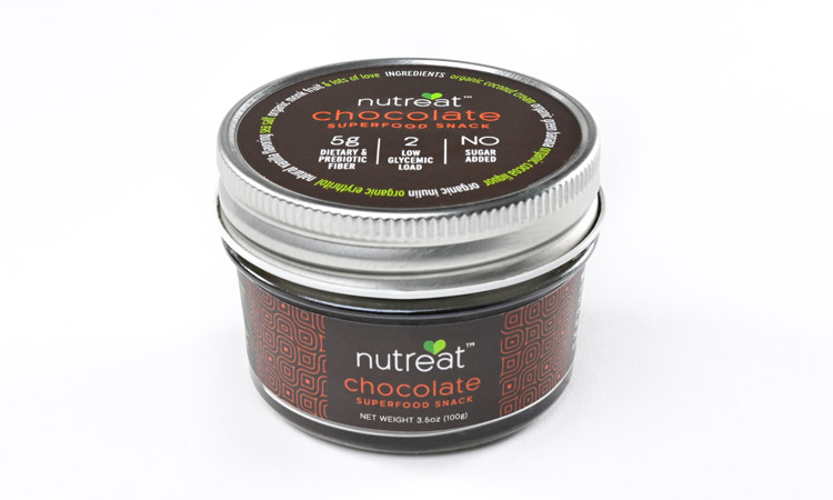 Package design for nutreat chocolate superfood snack