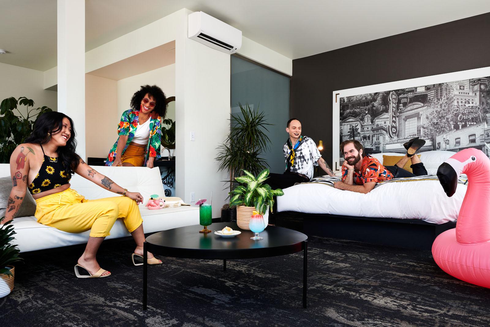Dina Avila photography for Jupiter Hotel NEXT camp shot