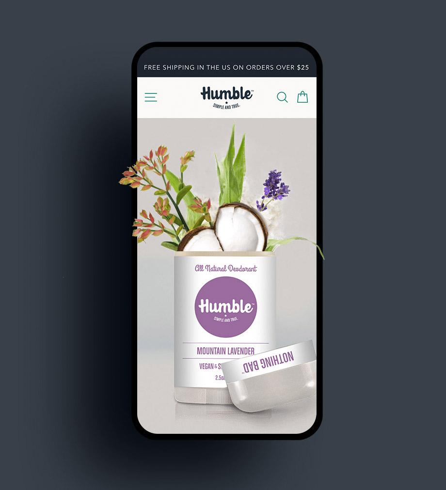 E Commerce web design Humble Brands