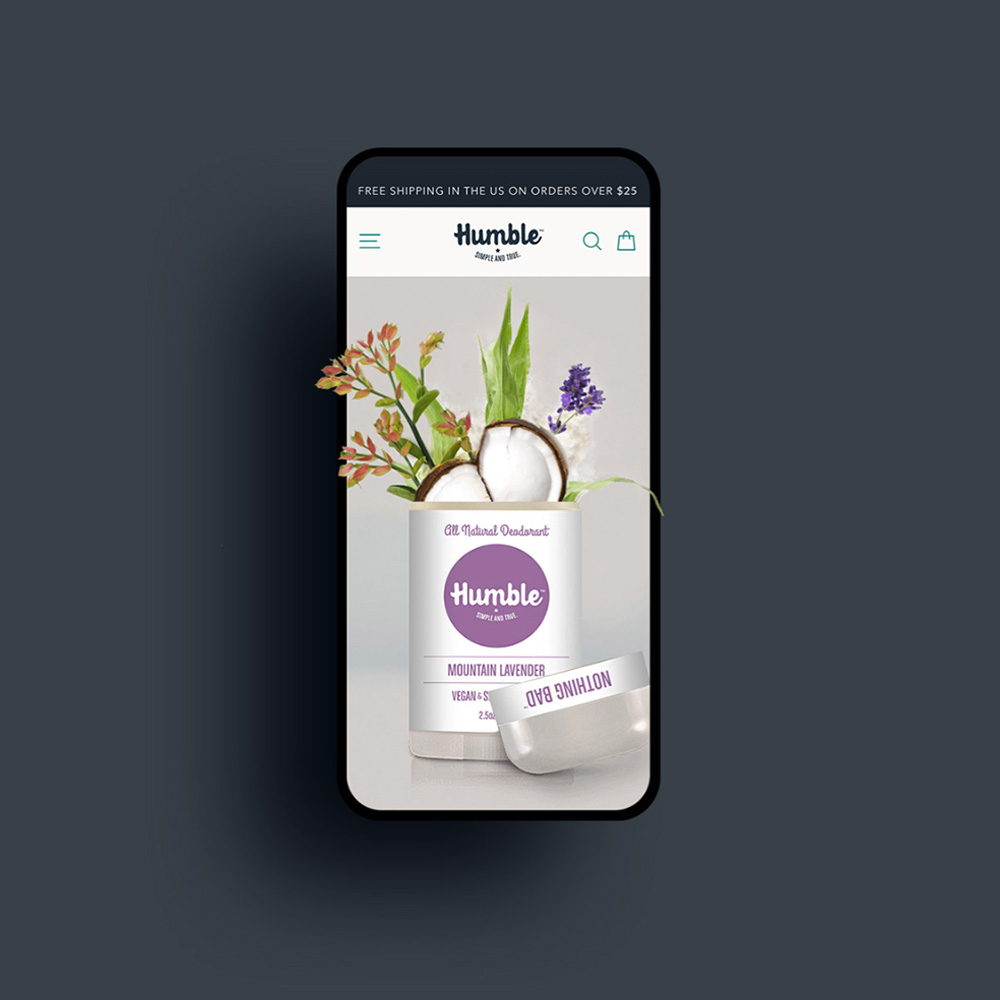 mobile web design for humble brands