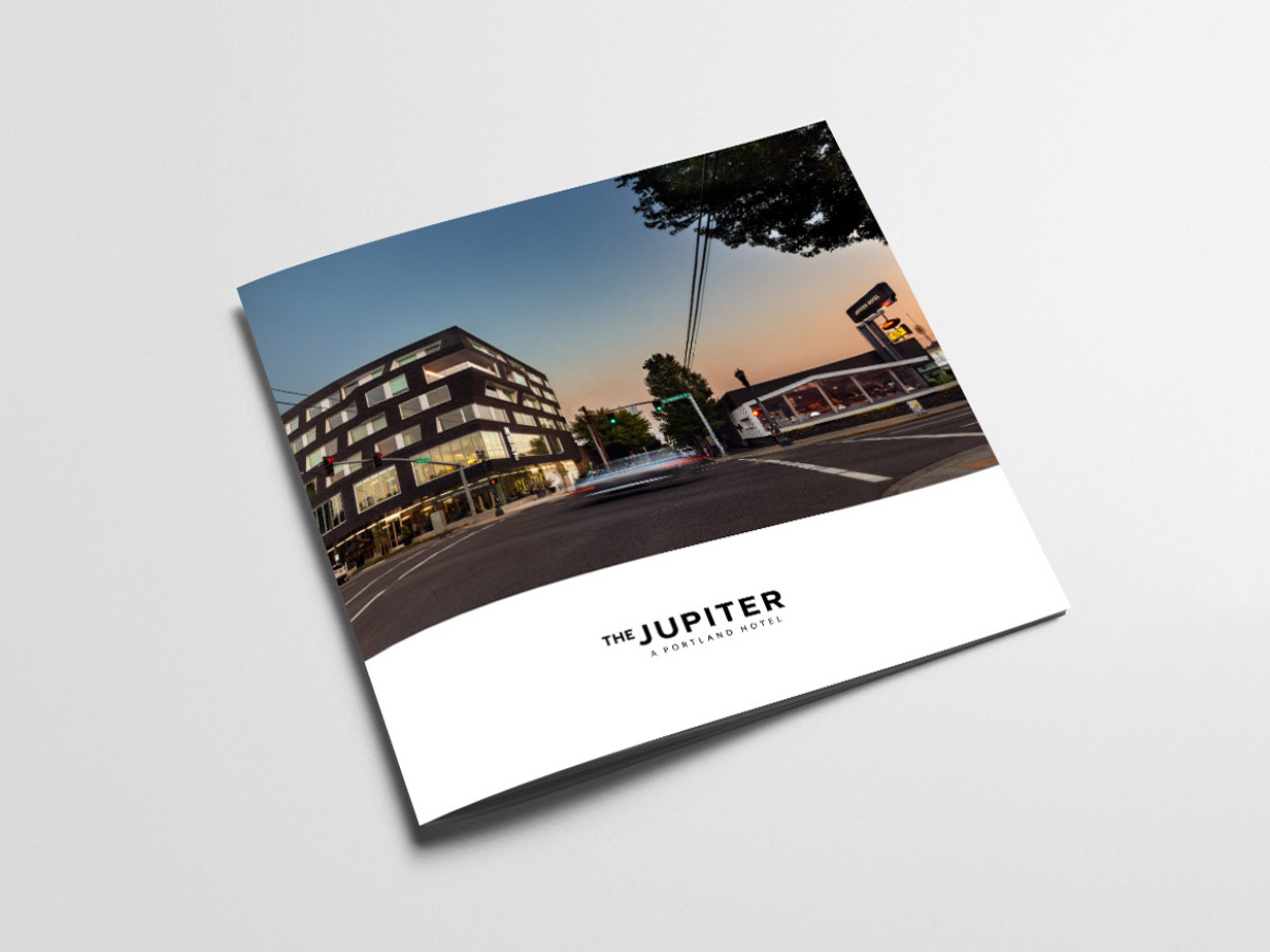 Jupiter Hotel brochure design