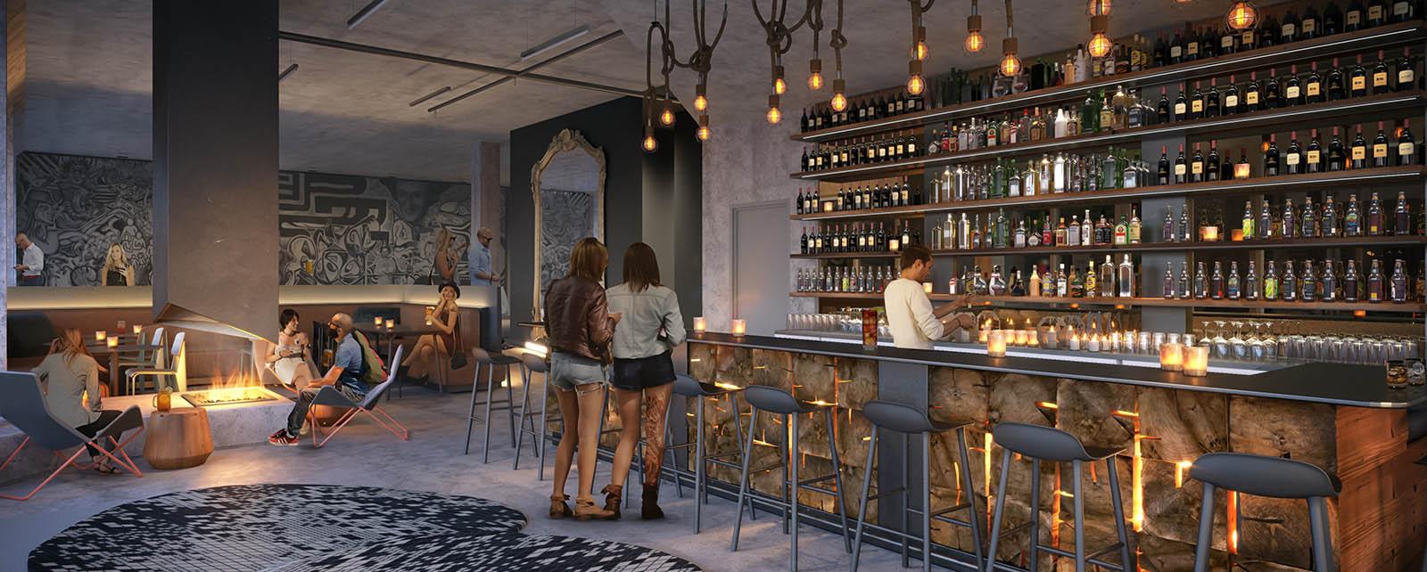 Jupiter Next Hotel restaurant renderings