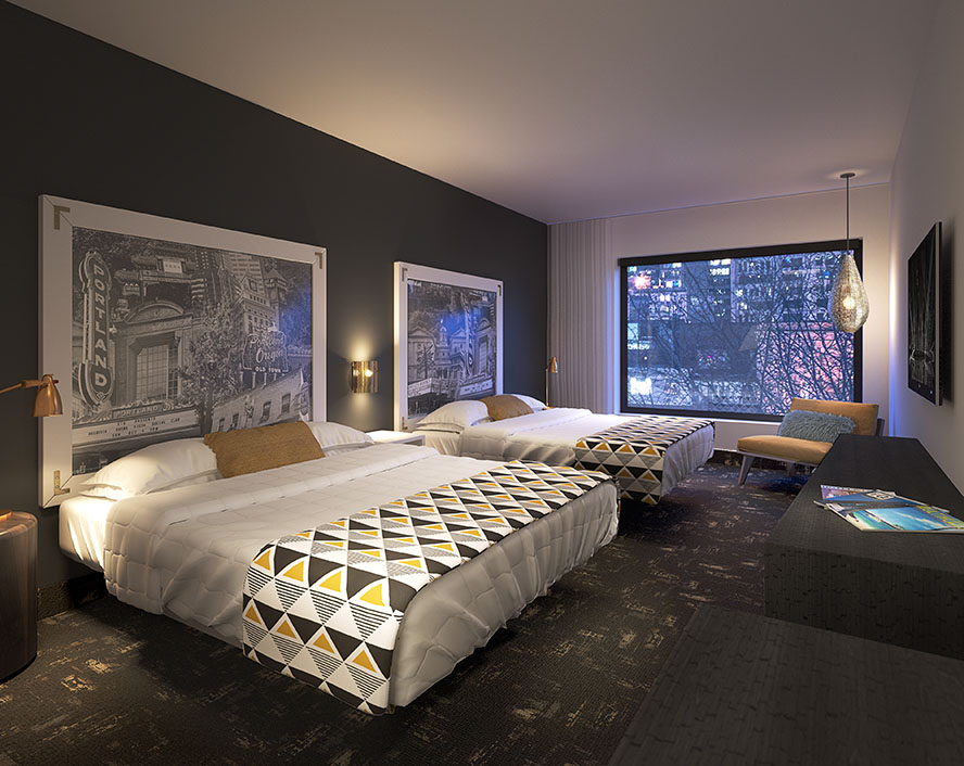 Jupiter NEXT hotel room rendering