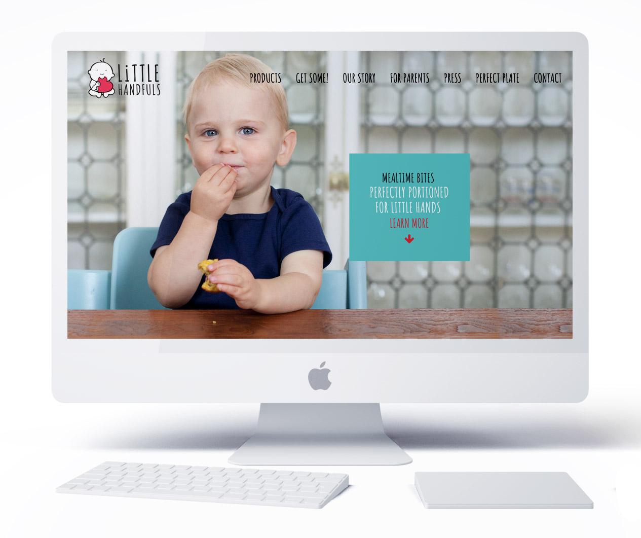 Little Handfuls Organic website design
