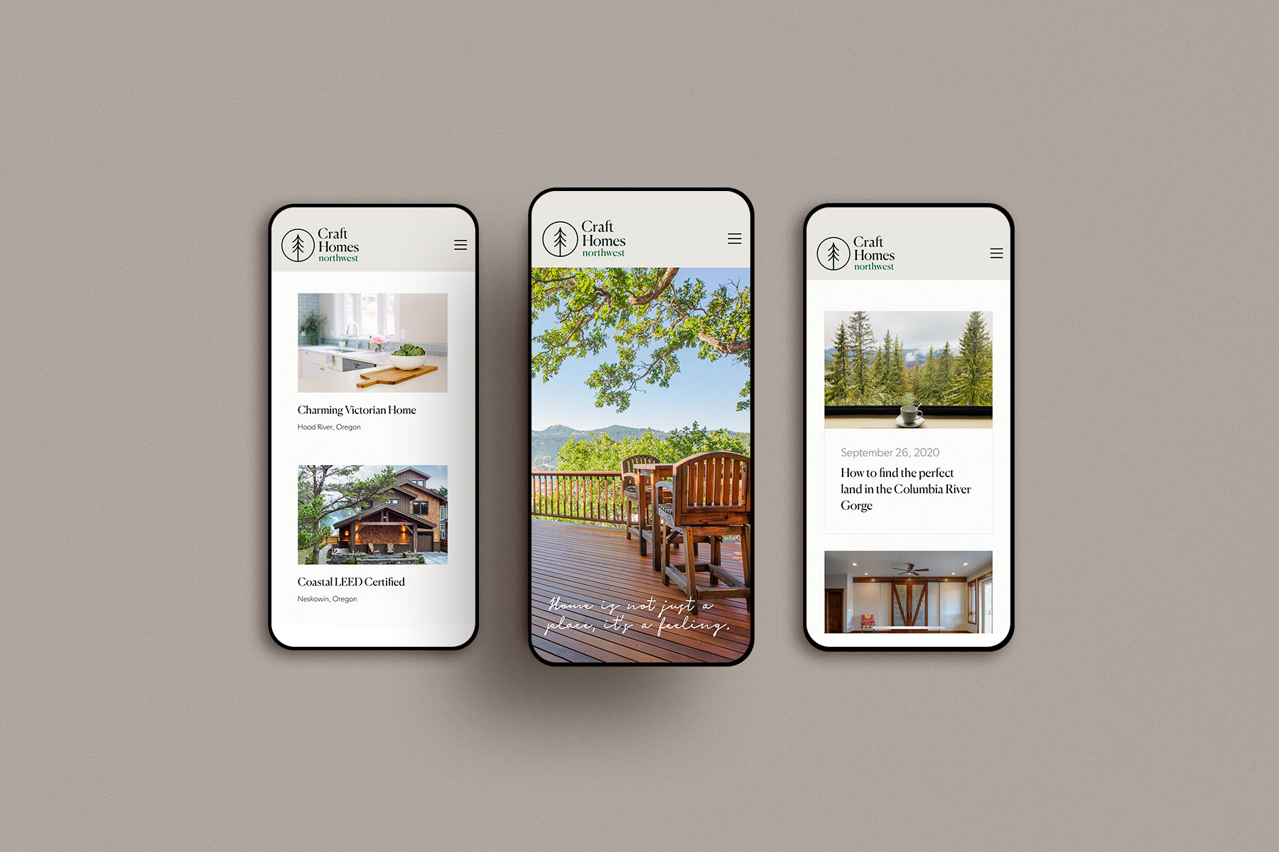 mobile website design for craft homes nw