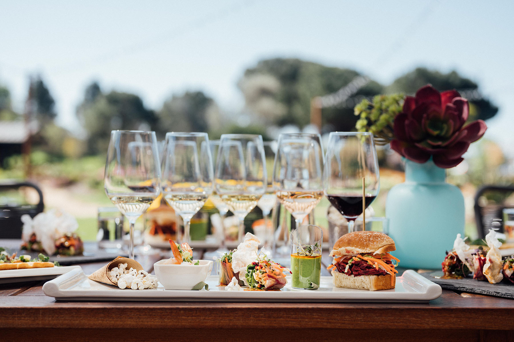 Napa winery outdoor tasting