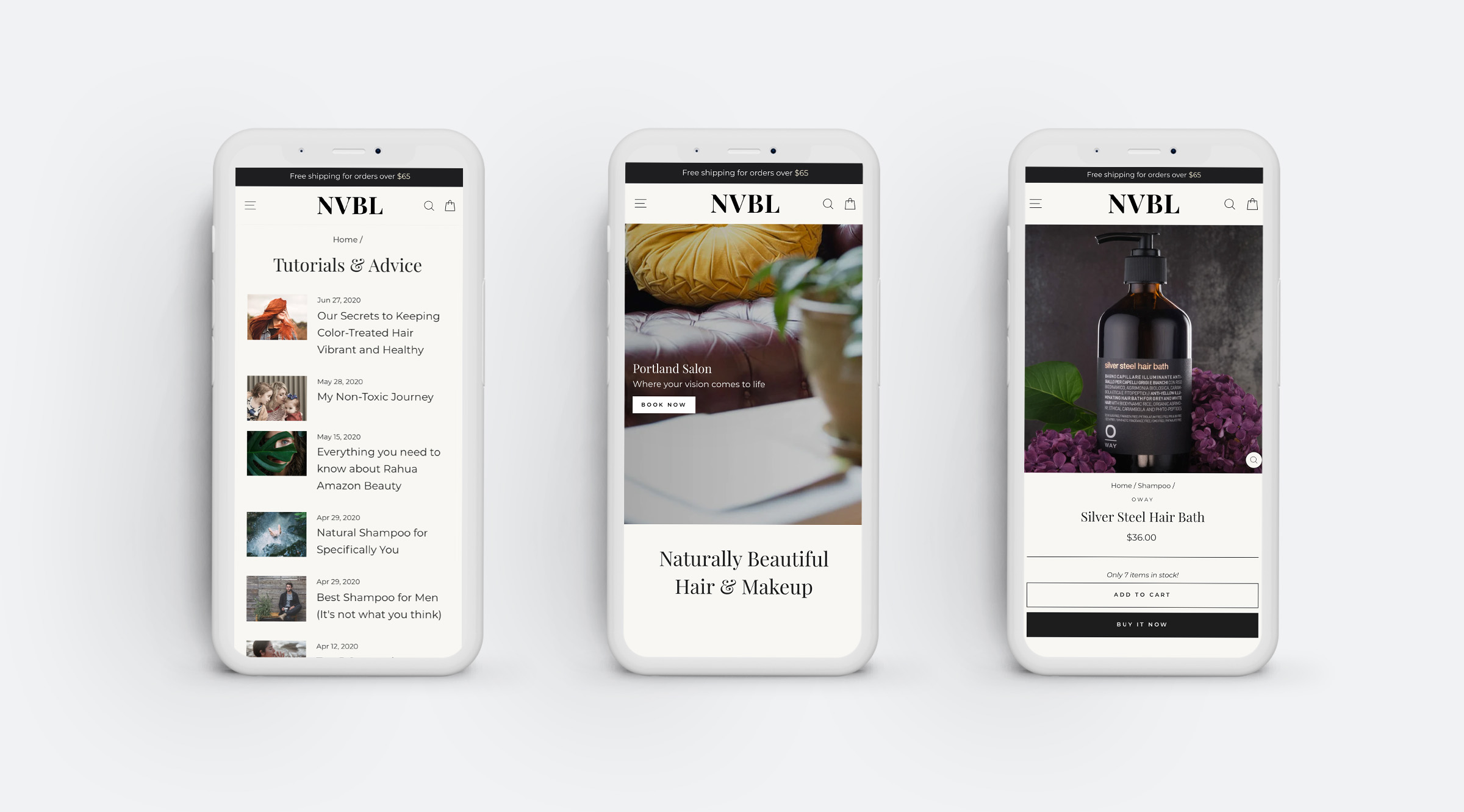 nvbl mobile e commerce design