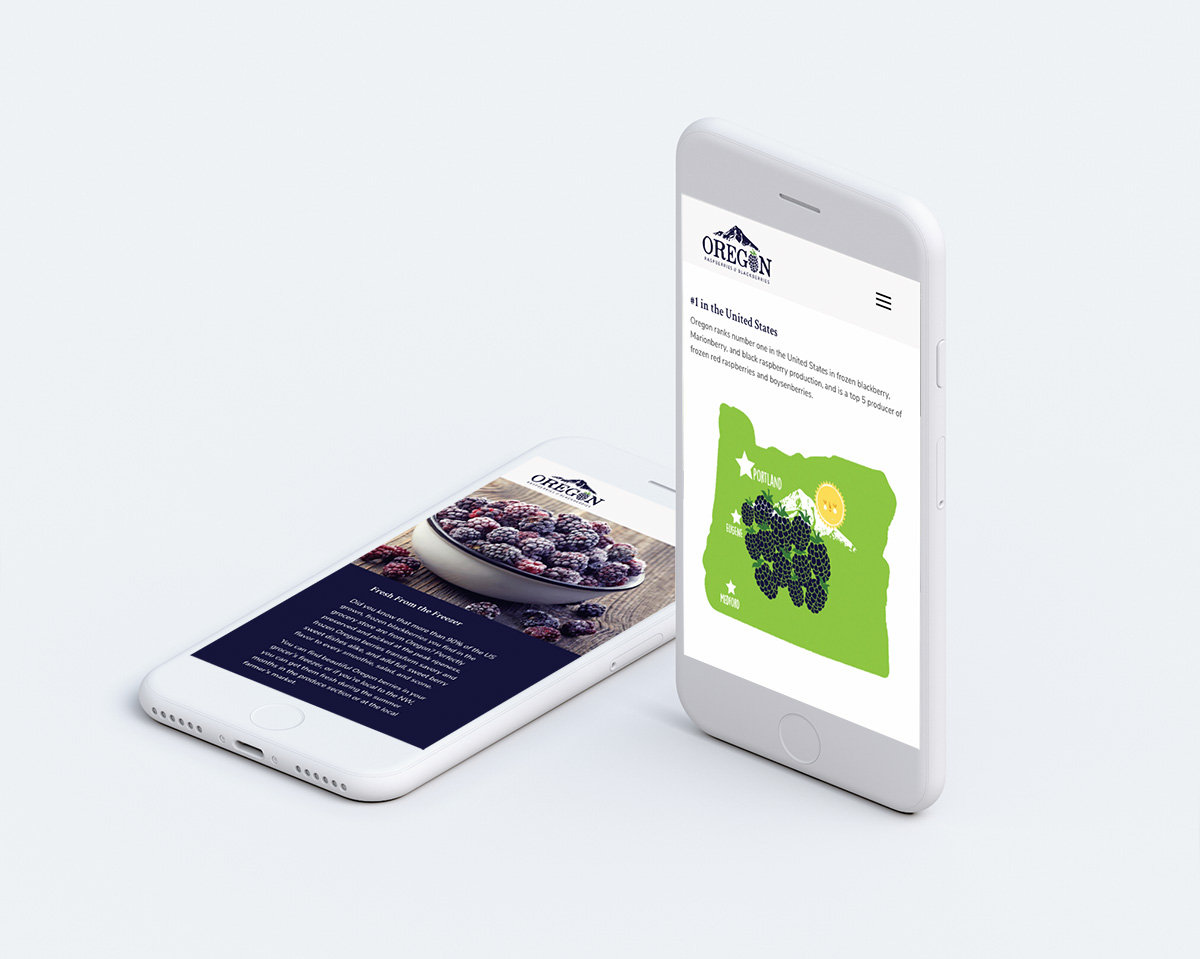 Oregon Berry Commission responsive website design