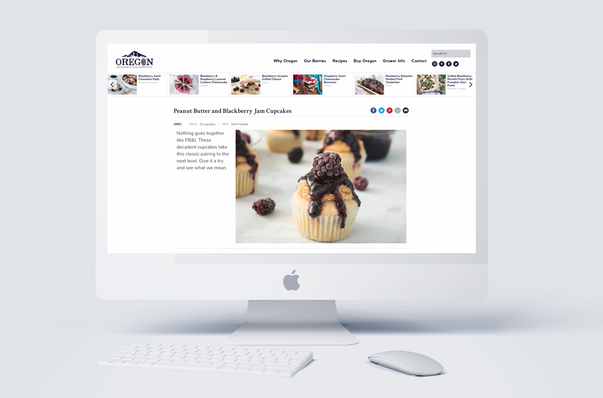 Oregon Berry Commission Website Recipe Design