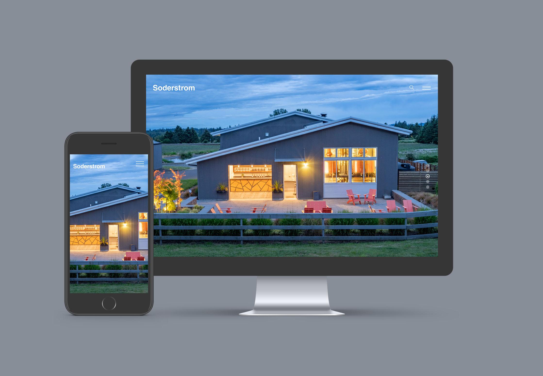 Portland web design studio architecture firm site