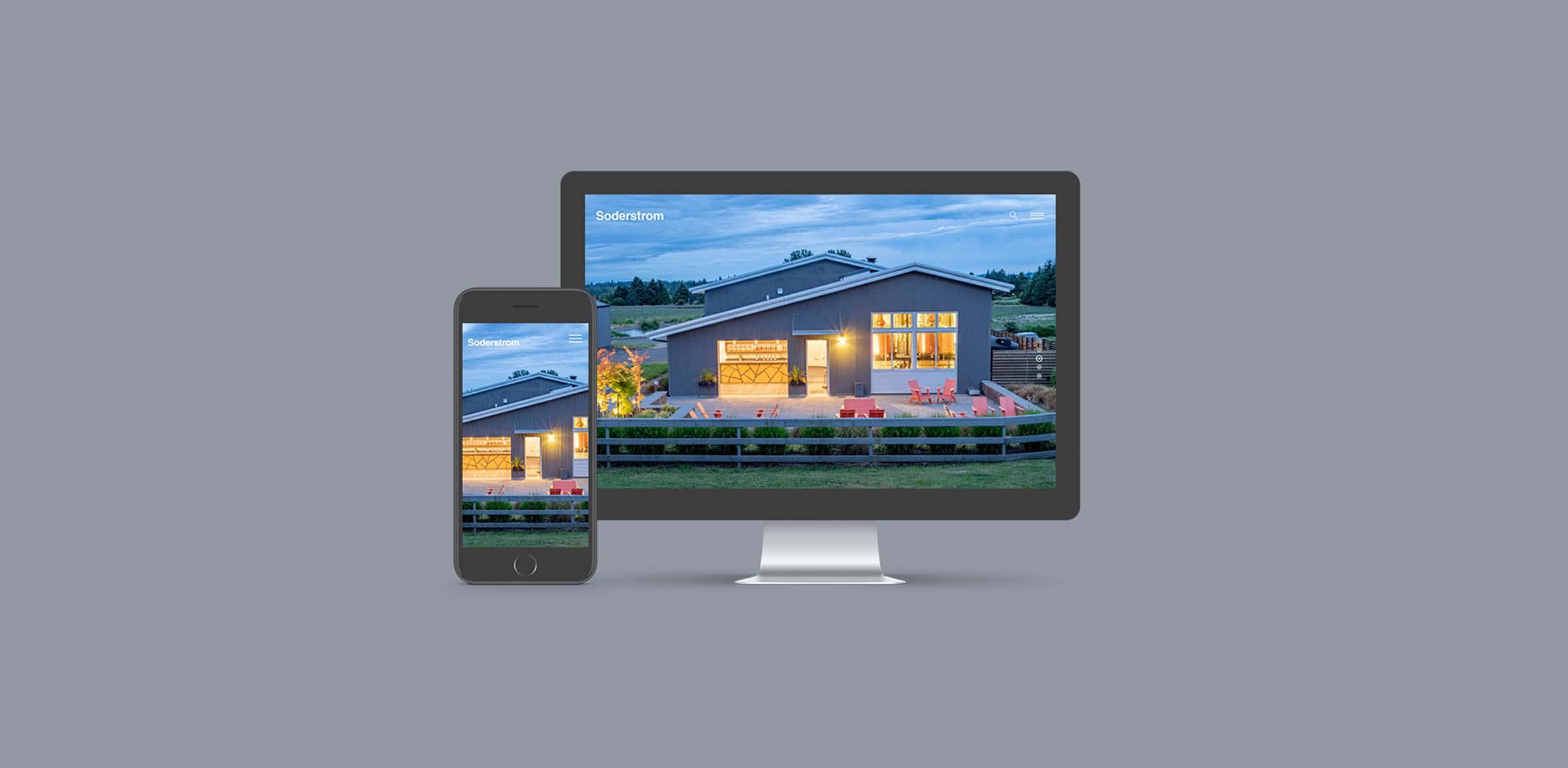 Soderstrom Architects Website Design