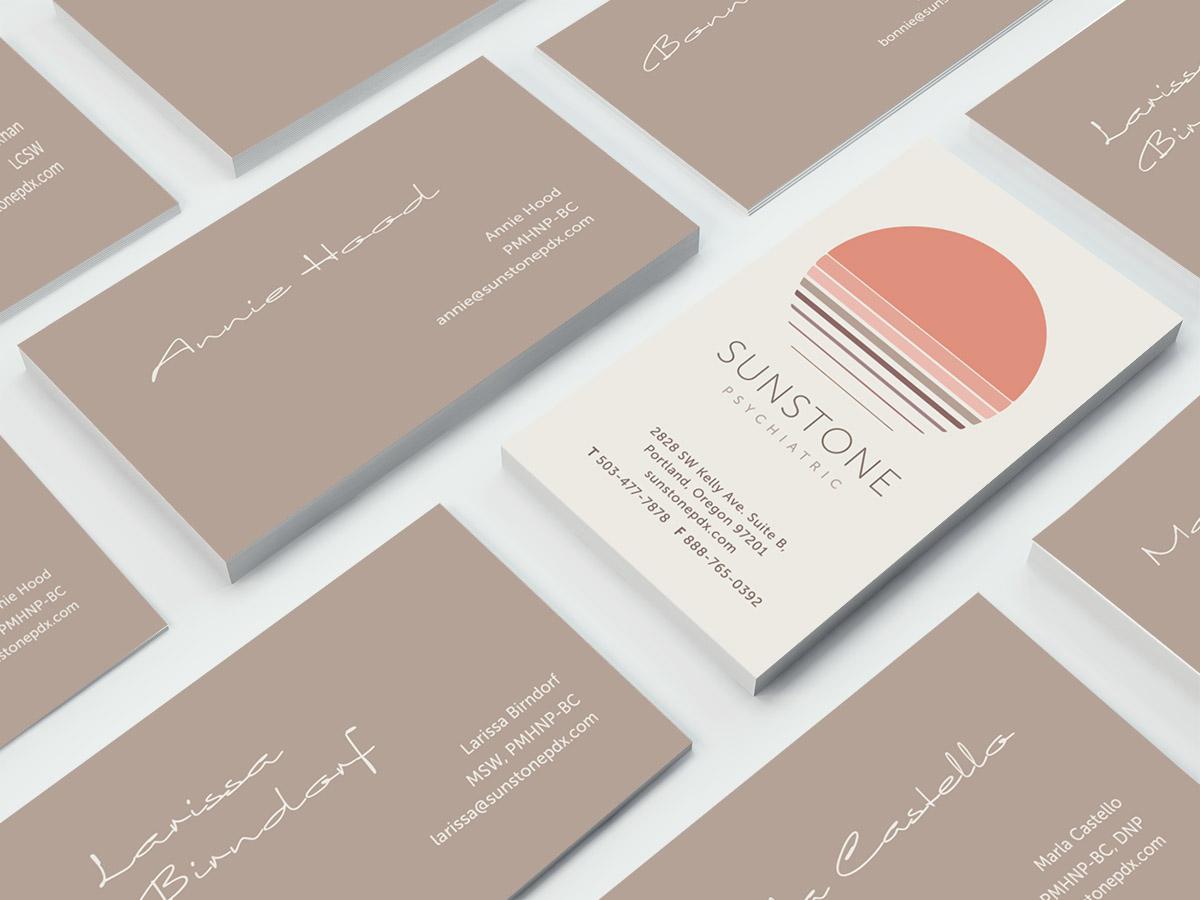 Sunstone business card design