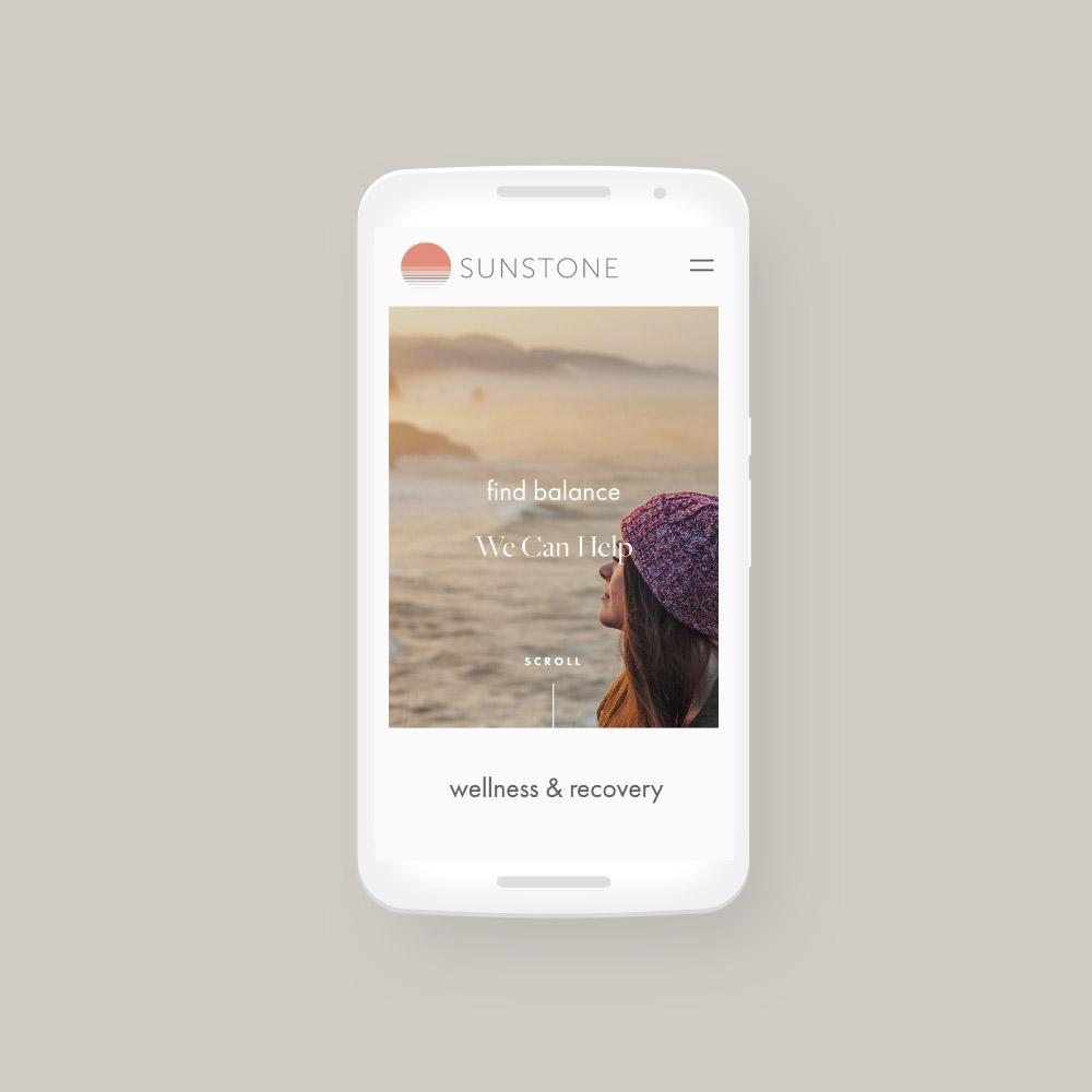Sunstone mobile web design