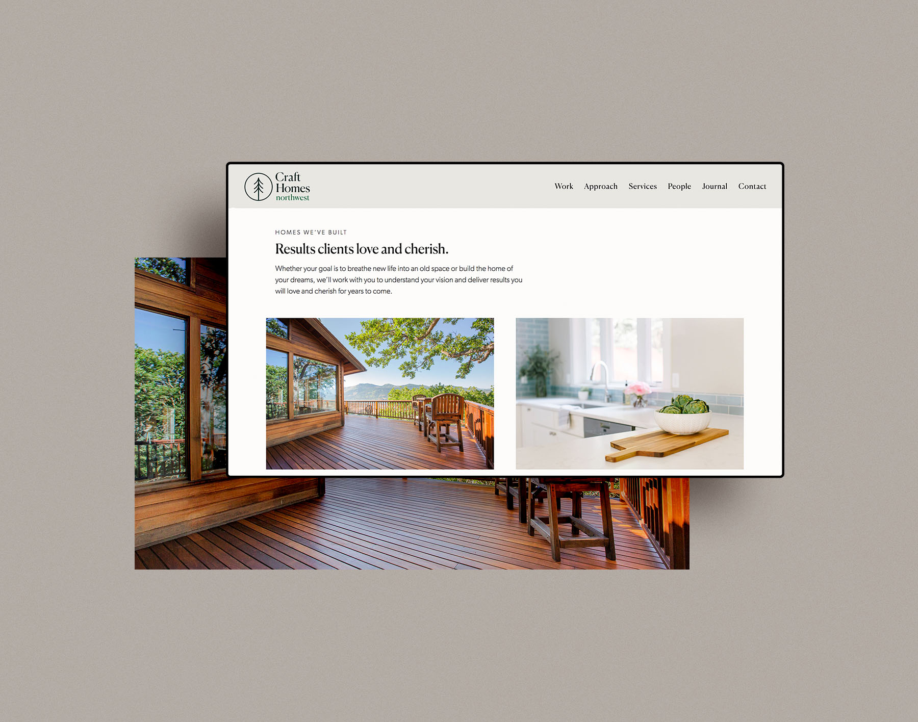 website design for craft homes nw