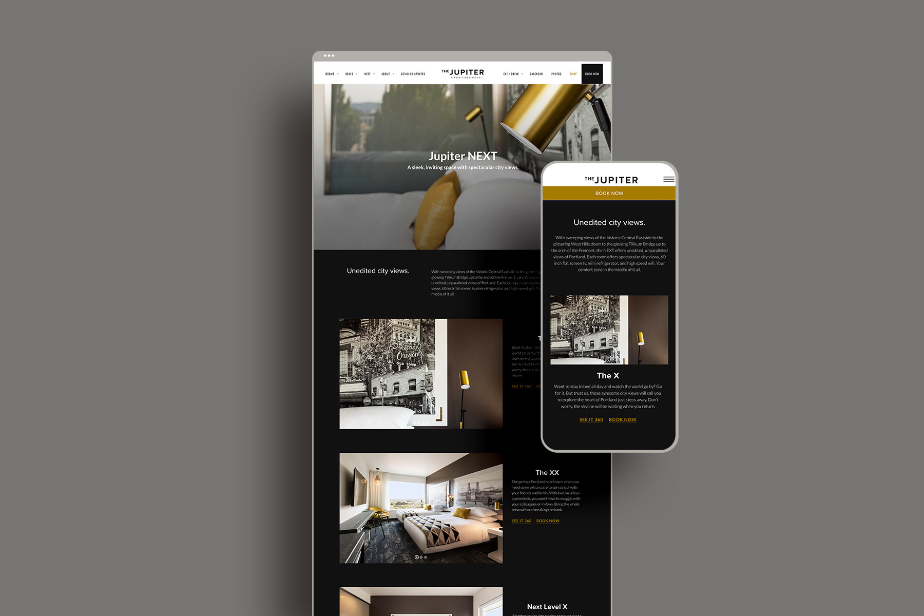 Web design for the jupiter hotel events page