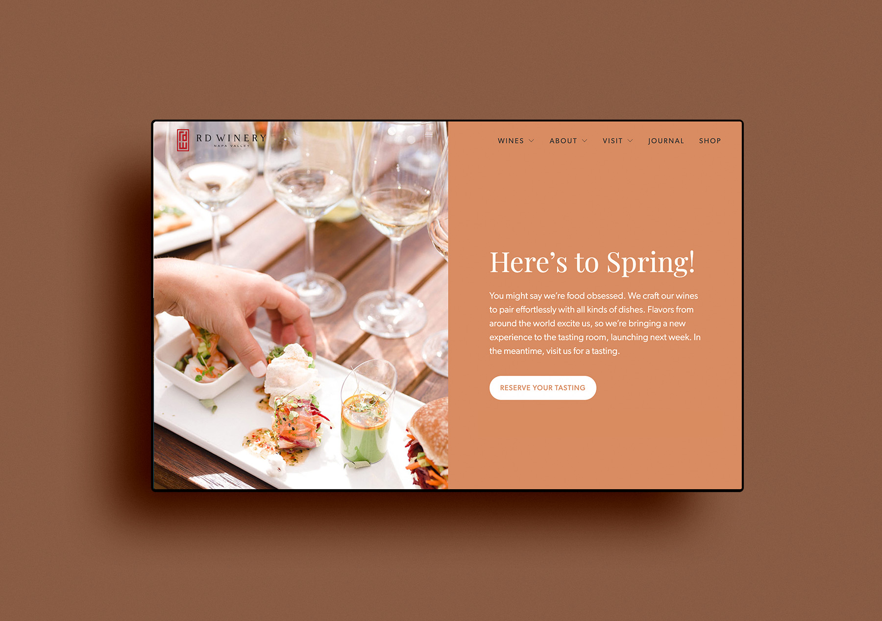 website design rd winery home page